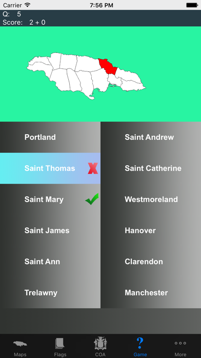 Jamaica Province Maps and Capitals screenshot two