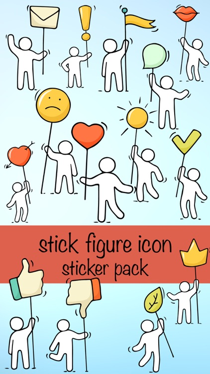 Stick Figure Emoji Icon Sticker Pack