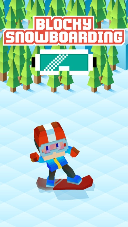 Blocky Snowboarding - Endless Arcade Runner screenshot-0