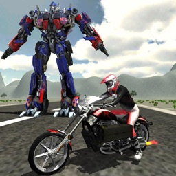 Robots Vs Bike War : Speed Battle Adventure Game