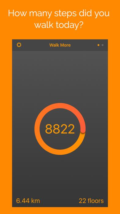 Walk More: activity pedometer screenshot 1