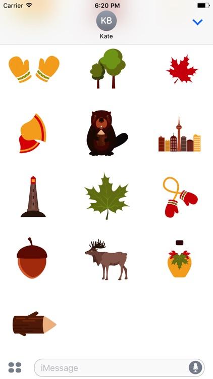 Animated I Love Canada Stickers screenshot-4