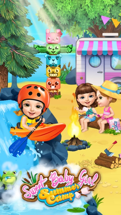 Sweet Baby Girl Summer Camp - Kids Camping Club screenshot-0