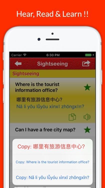 Learn Chinese - Travel Phrases, Words & Vocabulary screenshot-3