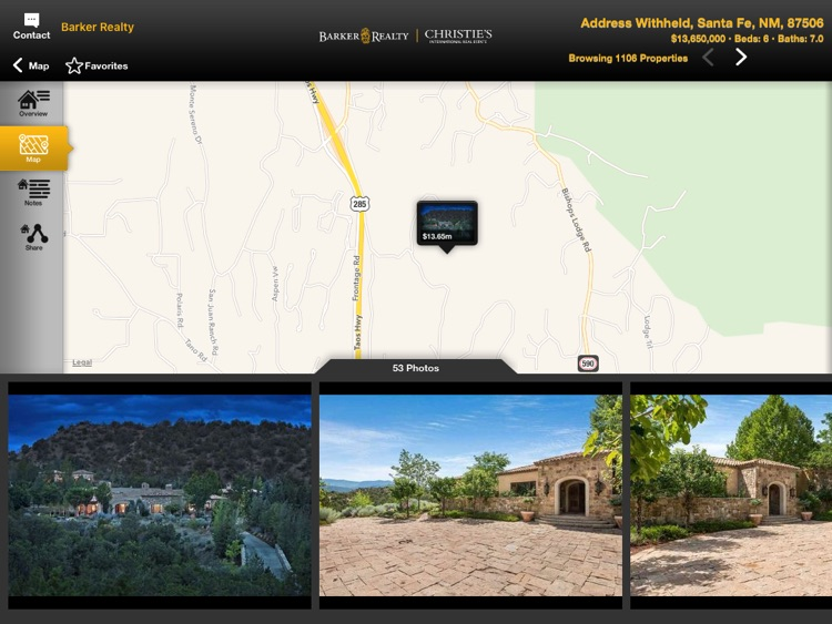 Santa Fe Real Estate Mobile for iPad