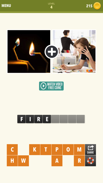 Pic Combo - 2 Pics Guess What's the Word Puzzle screenshot three