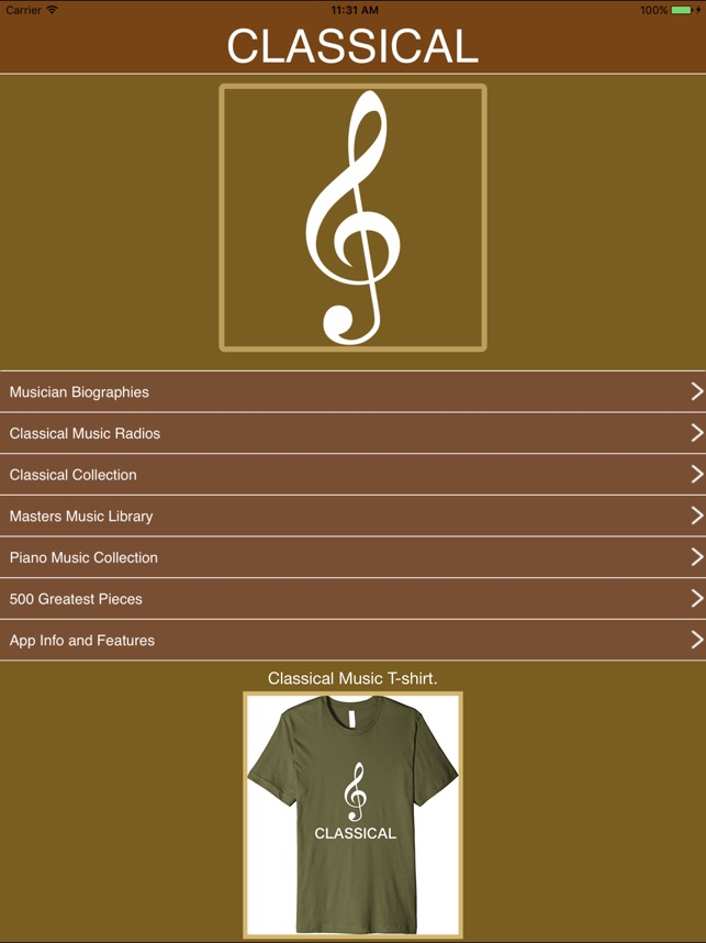 Classical Radios and Musician Biographies  on the App Store