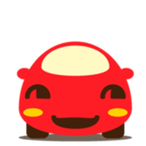 Cute Red Car Carmoji Stickers