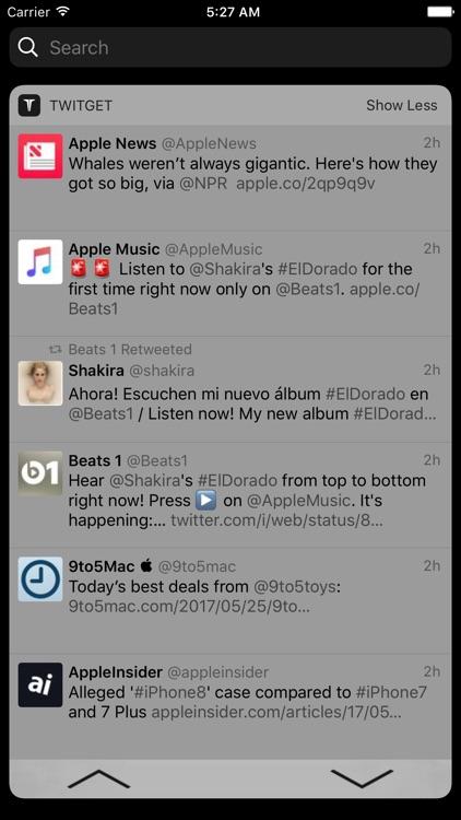 Twitget - Widget for Twitter