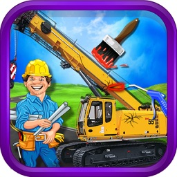 Construction Truck Workshop - kids Education Game
