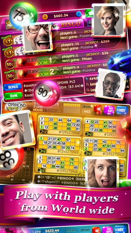Bingo 90 Live + Slots & Poker screenshot-1