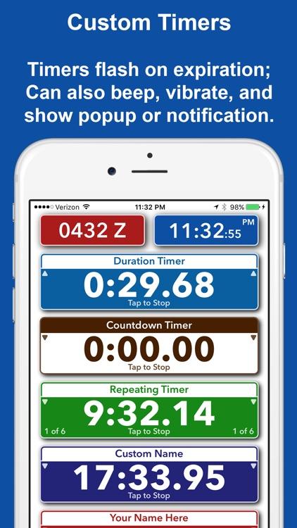 Timer Forit - Countdown Timers, Zulu & World Clock screenshot-3