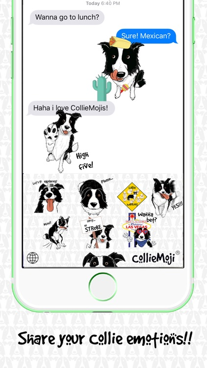 CollieMoji - Border Collie Emojis & Dog Stickers