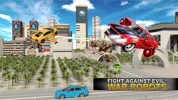 Real Flying Airplane Car: Futuristic War Jet Pilot screenshot-3