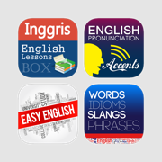 Learning English Series for Indonesian - Courses lessons with interactive UI