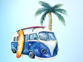 Head out to the beach and invite your friends to join you with Surfs Up Summer Vacation Beach Sticker Pack for iMessage