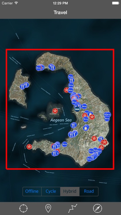 SANTORINI (GREECE) – Travel Map Offline Navigator