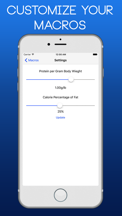 Macro Calculator for Bodybuilding & Weightlifting | App Price Drops