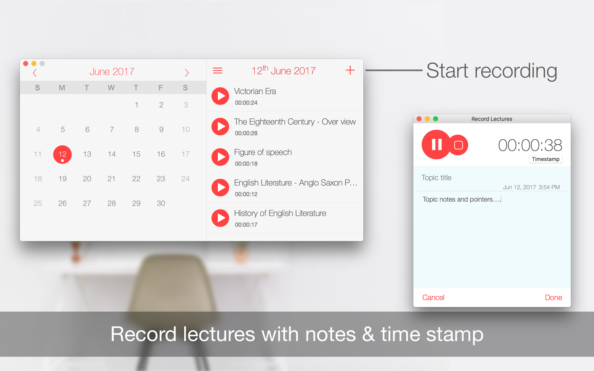 Record Lectures
