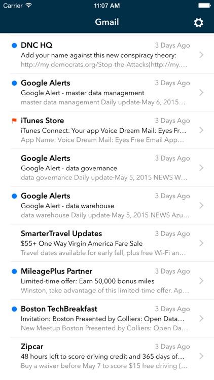 Voice Dream Mail screenshot-3