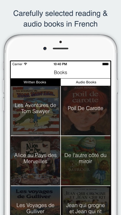 French Reading and Audio Books