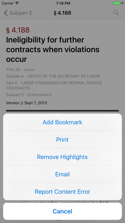 29 CFR - Labor (LawStack Series) screenshot-2