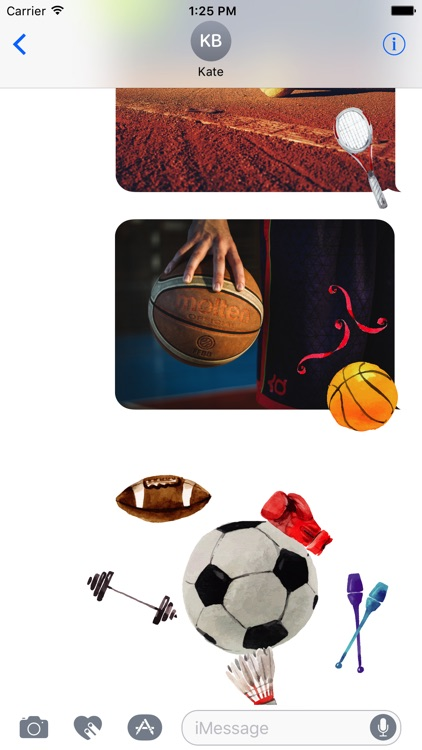 Animated Watercolor Sport Stickers
