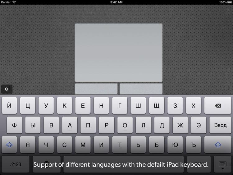Air Keyboard Lite: remote touch pad and keyboard screenshot-3