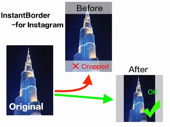 Instant Border for Instagram to make no crop photo | App Price