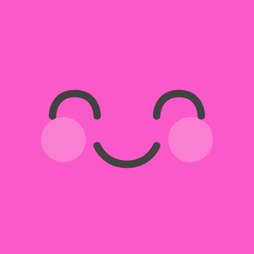 Pink Smileys - Pinky Emoji Pack with cute Stickers