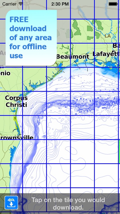 Aqua Map Alabama to Texas - GPS Nautical Charts screenshot-4