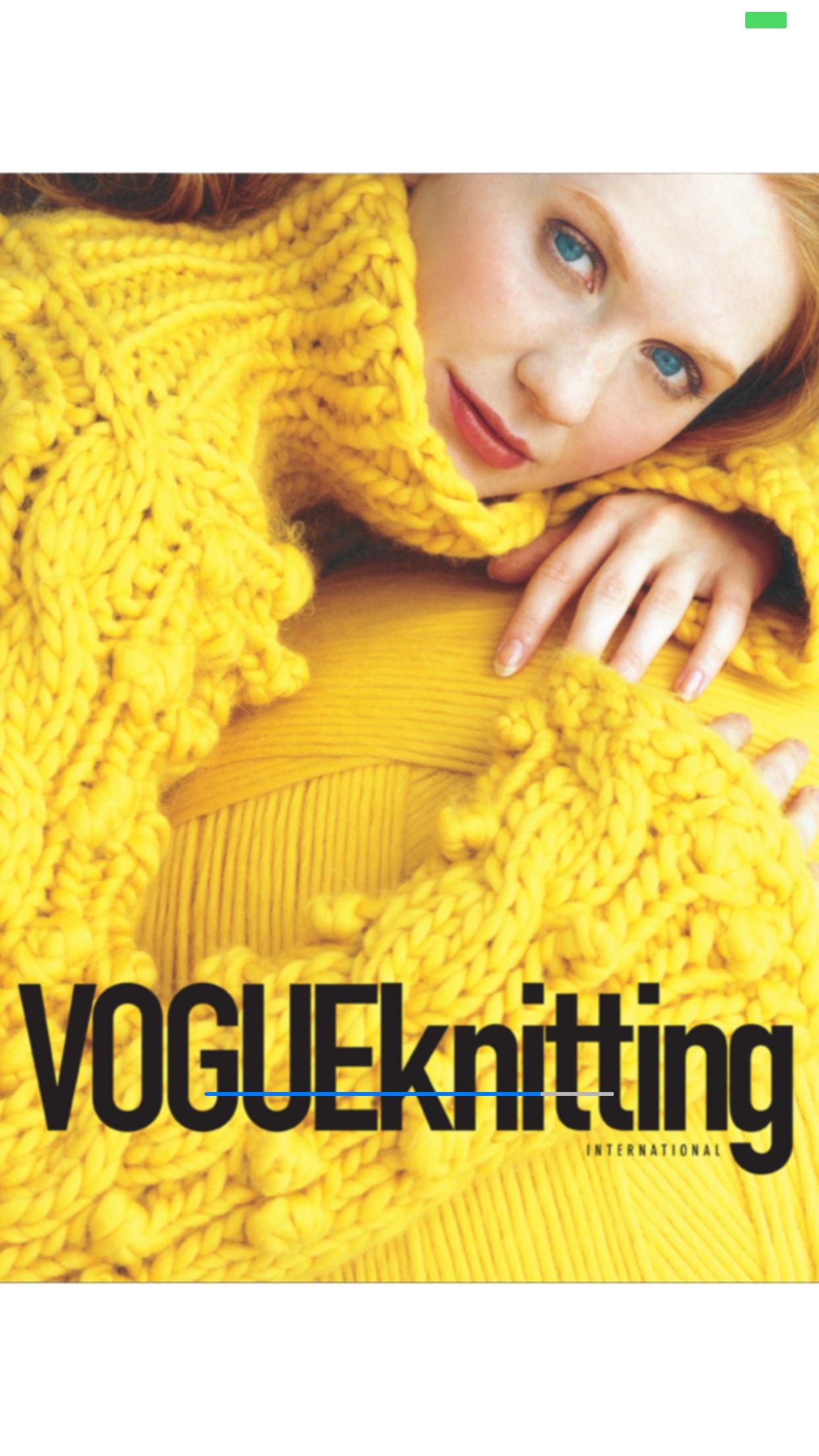 Vogue Knitting Magazine Screenshot