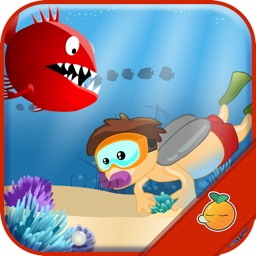 Snorking Sea Picking Pearl