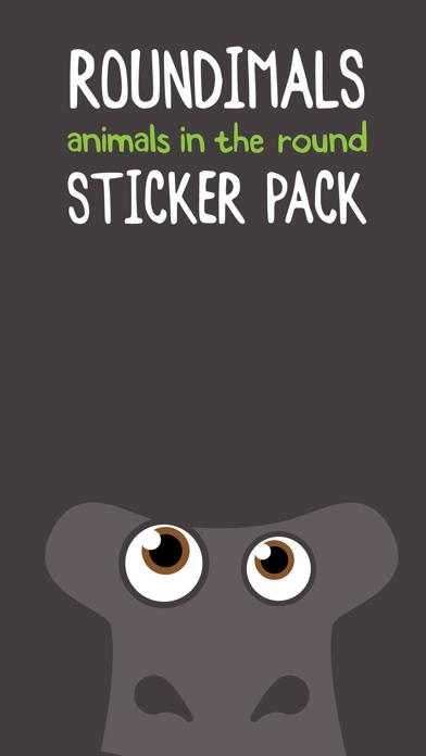 Roundimals Sticker Pack screenshot one