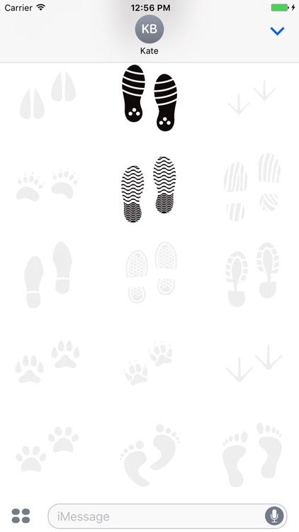 Animated Cute Footprint Stickers screenshot-3