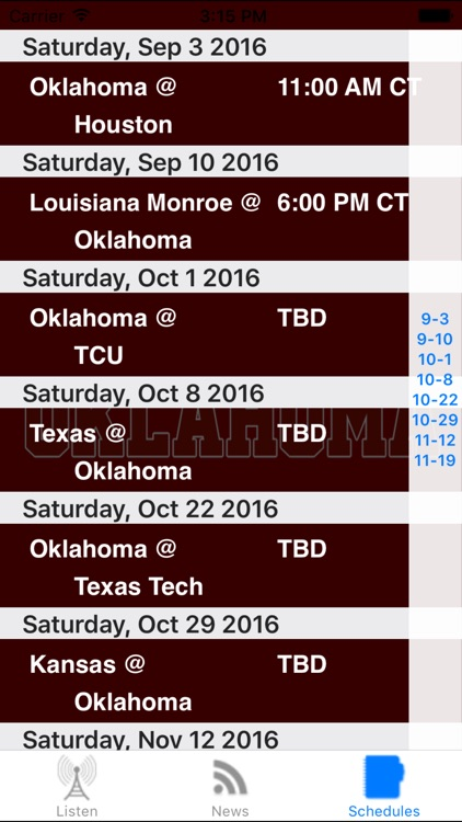 Oklahoma Football - Sports Radio, Schedule & News screenshot-3