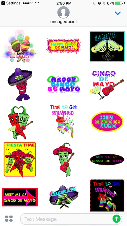Southwestern Cinco De Mayo Stickers