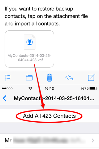 My Contacts Backup Pro screenshot 3