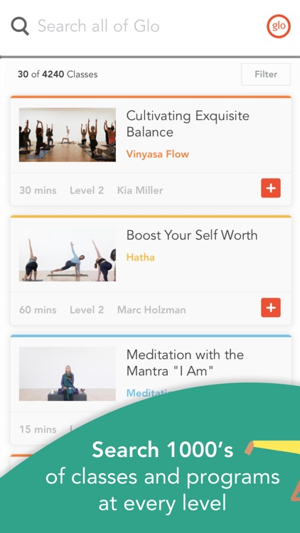 YogaGlo – Yoga and Meditation Classes screenshot-0