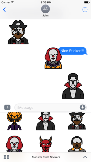 monster treat stickers emoji character on the app store