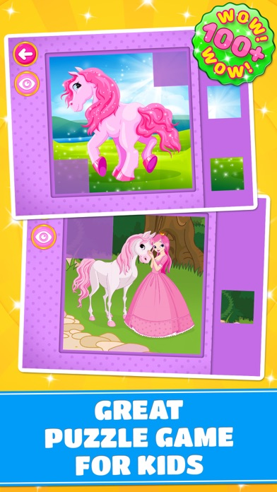 Cute Ponies & Unicorns Puzzles - Logic Game PRO screenshot one