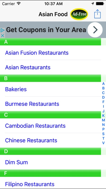 Asian Food Restaurant Finder Nearby
