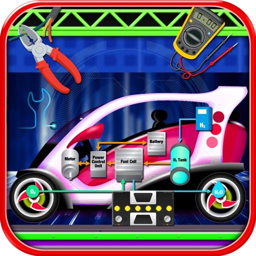 電気自動車修理工場 - 自動車整備士