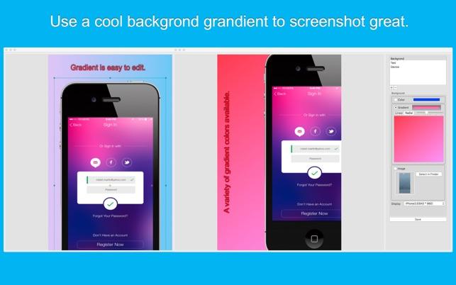 Screenshot Design-Great App Mockup Generator on the Mac App Store