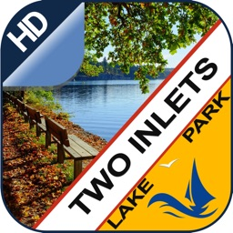 Two Inlets offline charts for lake and park trails