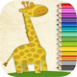 Animals coloring book – paint drawings