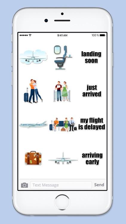 Airport Travel Sticker Pack