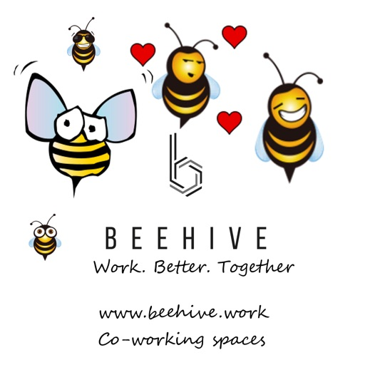 Beehive Coworkers Stickers