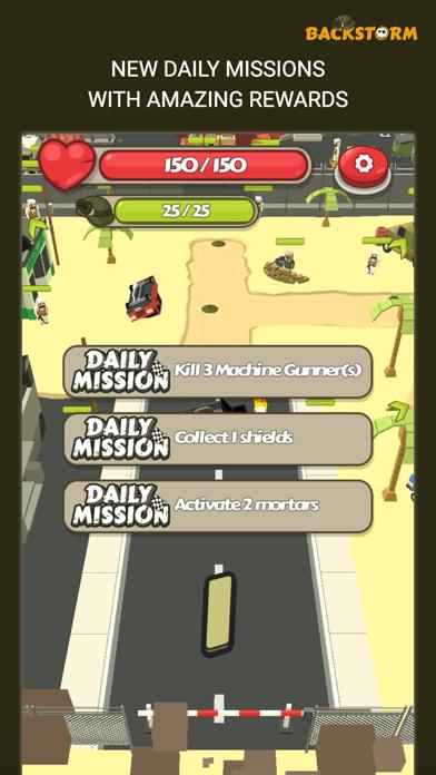 Backstorm Attack - Endless RPG War Runner screenshot 1