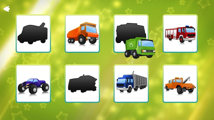 Trucks and Shadows Puzzle Game Lite screenshot-1